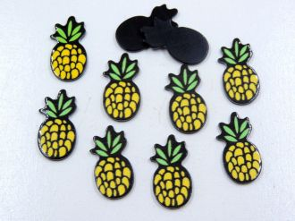 aplique abacaxi 1,3cm x 2,5cm para artesanato 5 unidades