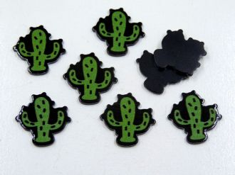 aplique cactus 2cm para artesanatos 5 unidades