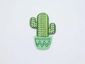 aplique termocolante cactus 5x3,5cm unitário