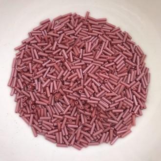 canutilho rosa seco 5mm com furo para bordados 25g