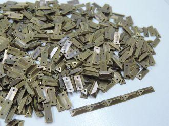 chaton palito ouro velho com furo 12x4mm 100 unidades