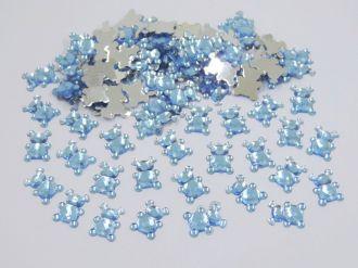 chaton urso azul 12x9mm para artesanatos 200 unidades