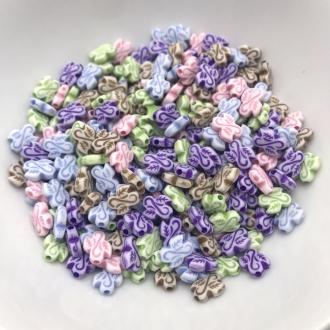contas coloridas folhinhas com furo 20 gramas
