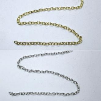 corrente extensor para bijuteria 3mm dourado ou prata 30cm