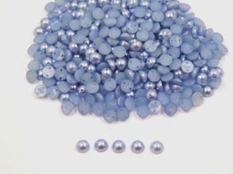 meia pérola azul com furo 6mm 400 unidades