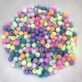 miçanga bolinha colorida com furo 6mm 200 unidades