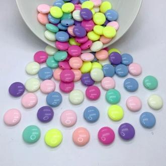 miçanga confete colorido com furo 13mm 50 unidades