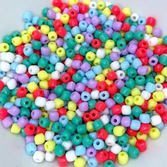 miçanga mini terere colorido com furo 4mm 100 unidades