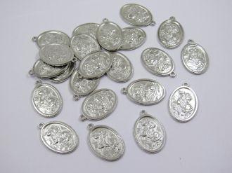 pingente medalha são jorge 3x2cm 6 unidades