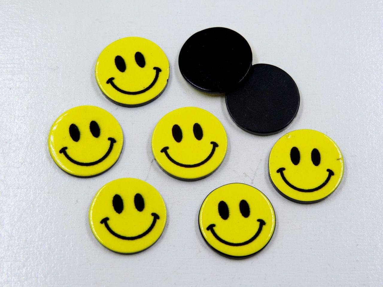aplique smile 1,8cm para artesanatos 5 unidades
