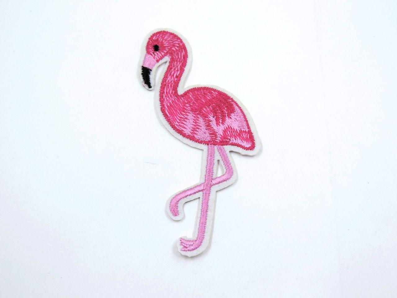 aplique termocolante flamingo pink 10x5,2cm unitário