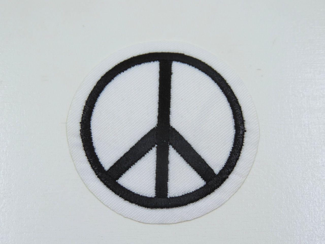 aplique termocolante símbolo da paz 5,5cm unitário