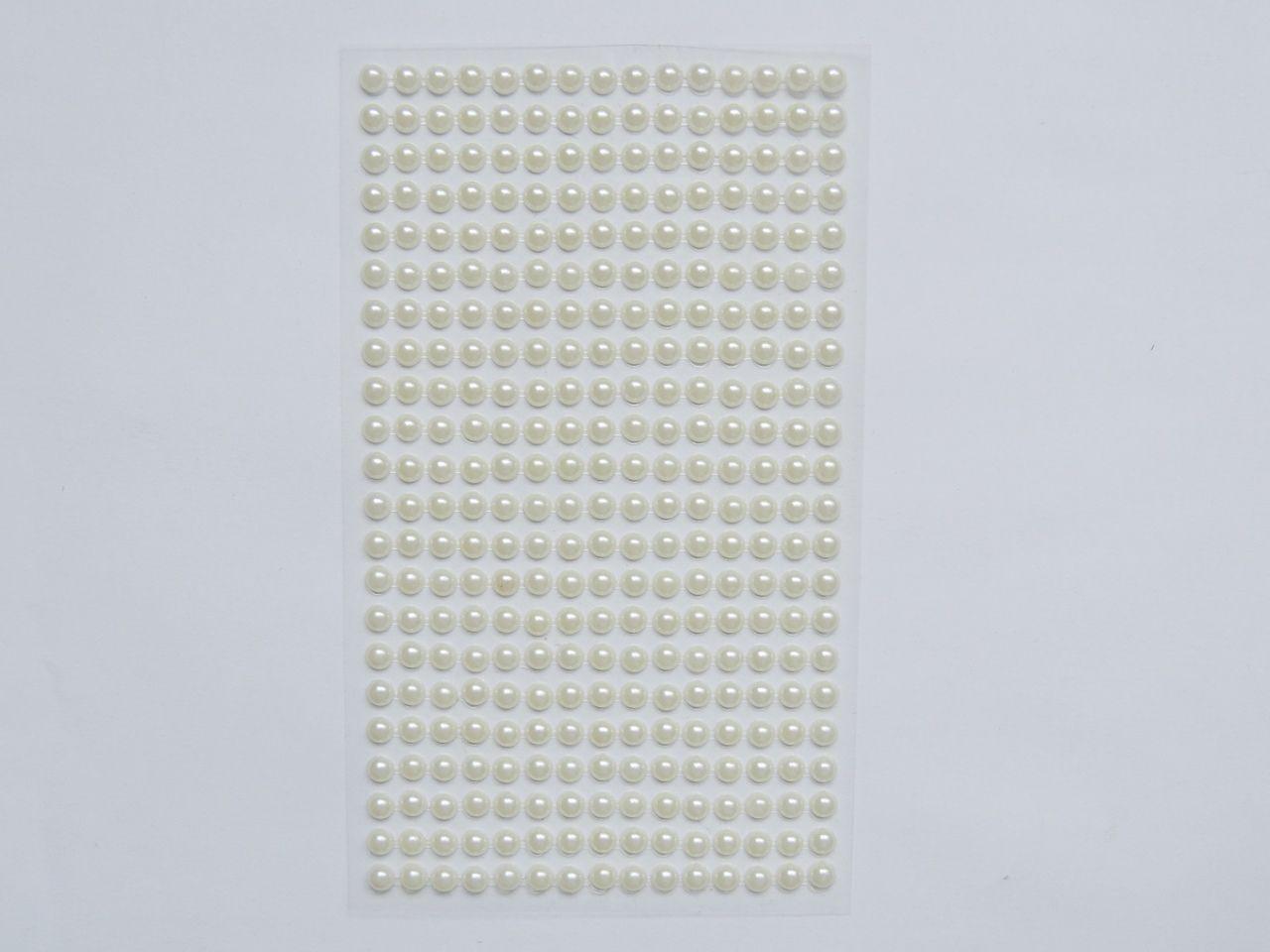 cartela de adesivo meia pérola 5mm 330 unidades