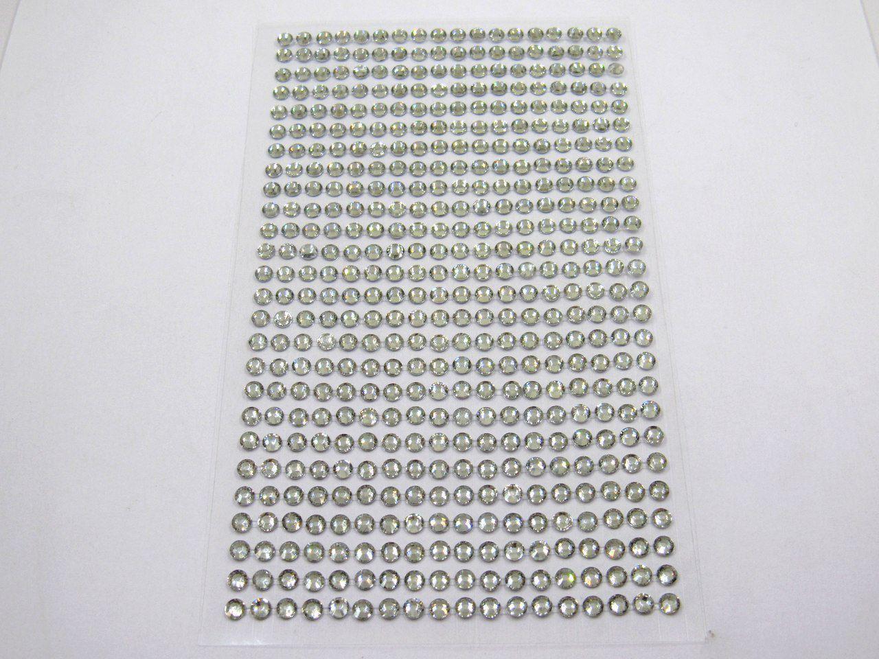 cartela de adesivo strass 4mm 468 unidades