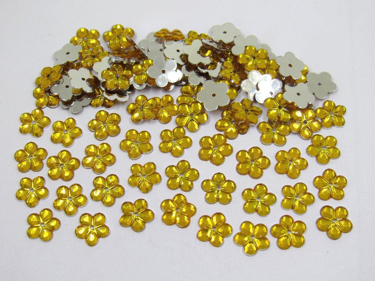 chaton flor 12mm para artesanato 200 unidades