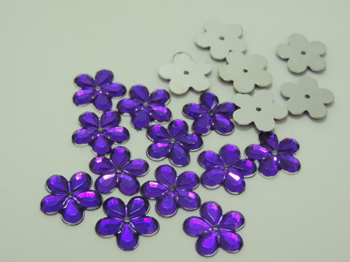 chaton flor 18mm para artesanato 100 unidades
