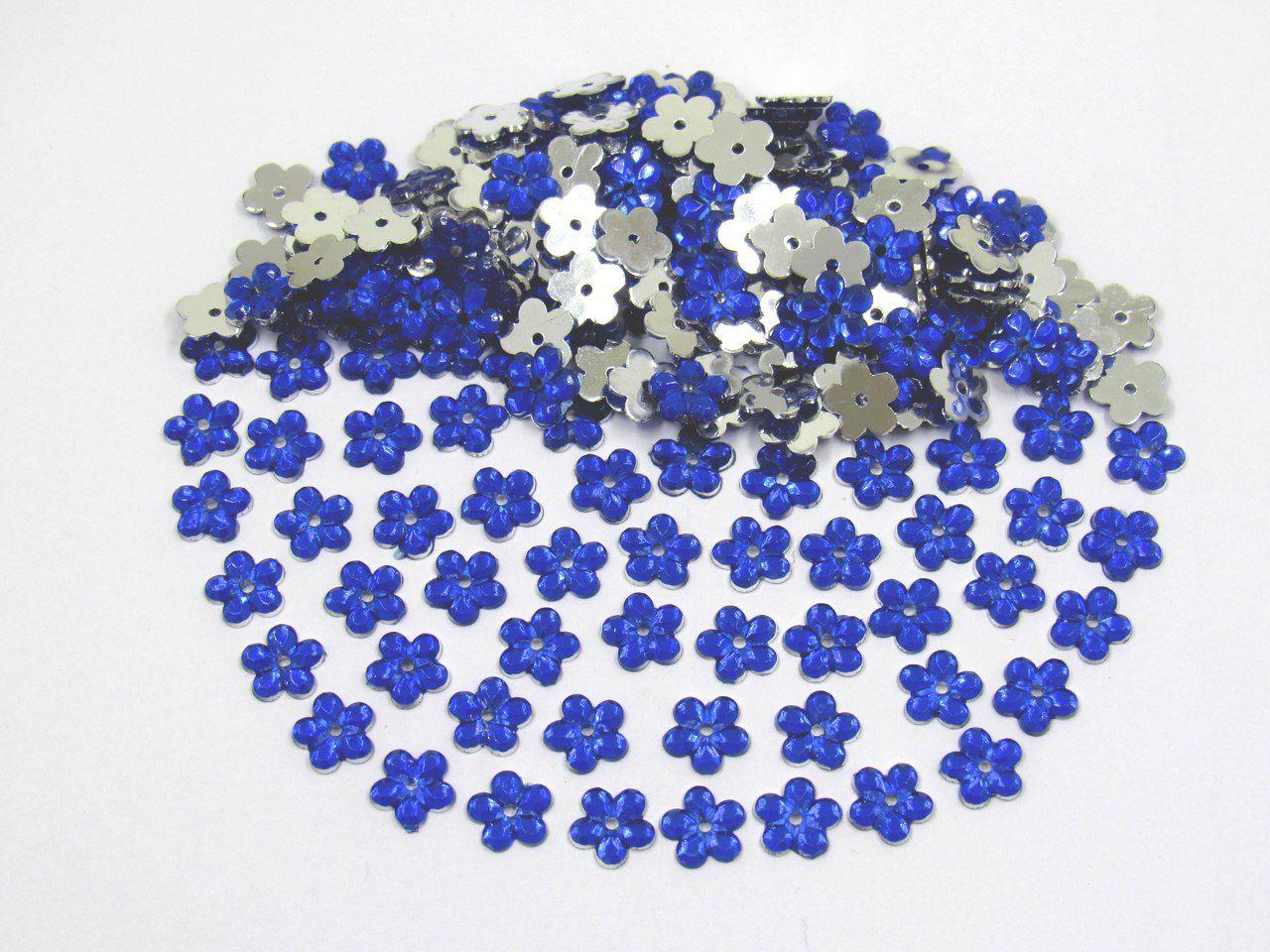 chaton flor 8mm para artesanato 400 unidades