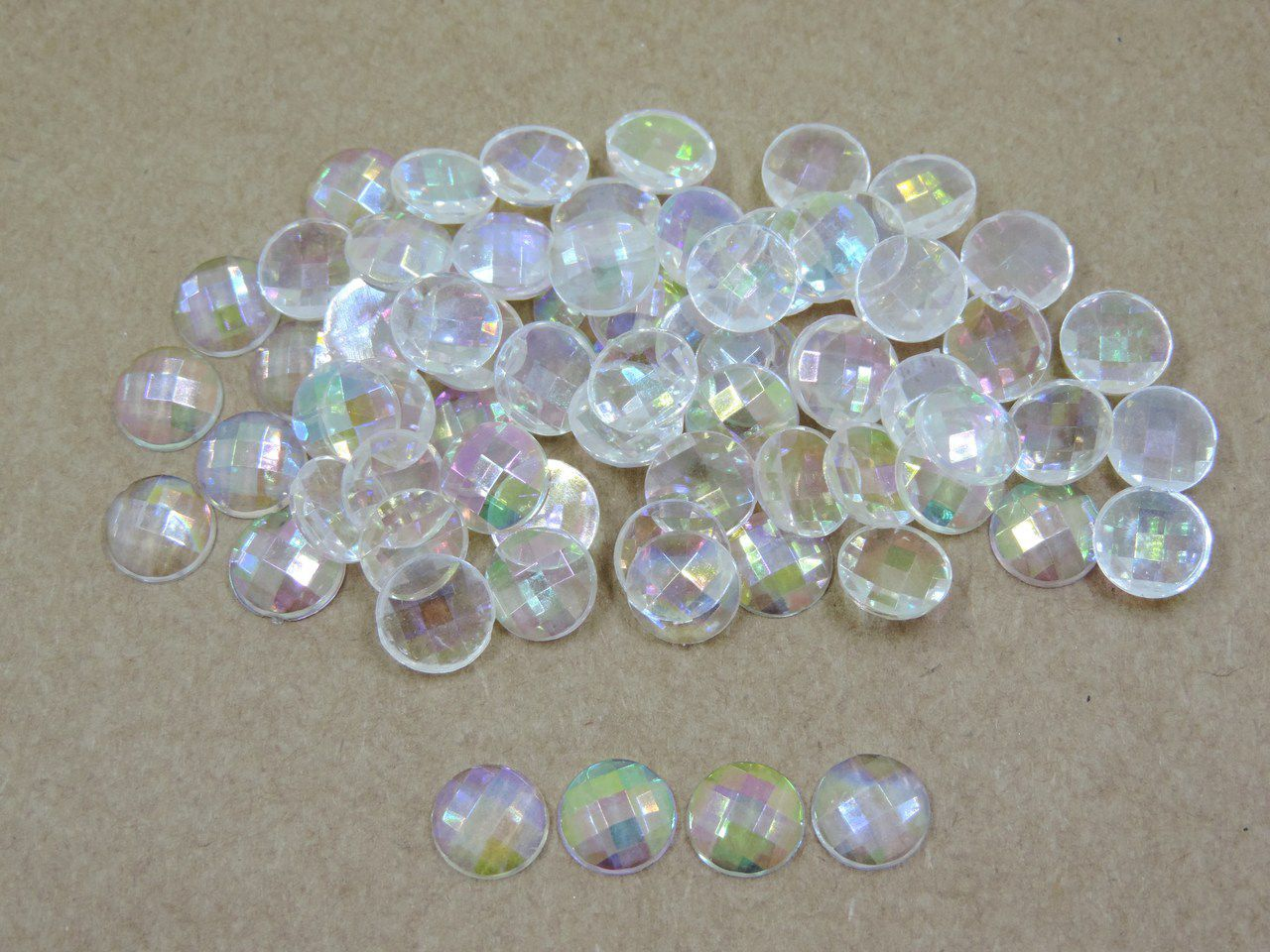 chaton furta cor transparente 10mm colagem 200 unidades