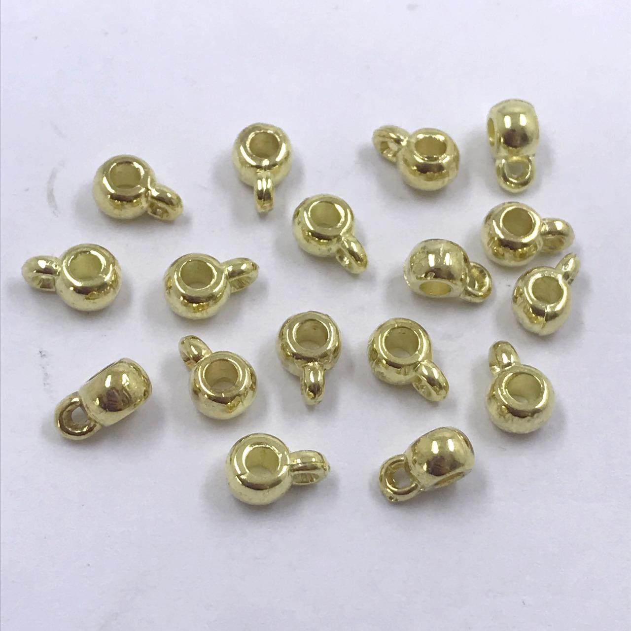 entremeio caneca prata e dourado com furo 8x4x3mm 12 unidades