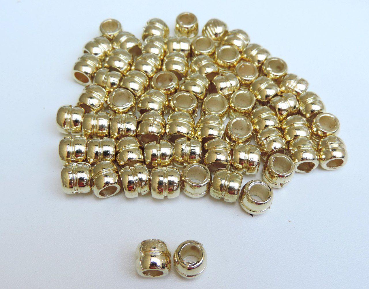 entremeio listra dourado 8x8mm metal 12 unidades