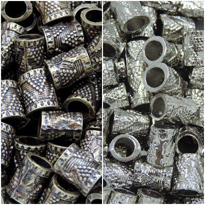 entremeio relevo prata 13x10mm 12 unidades