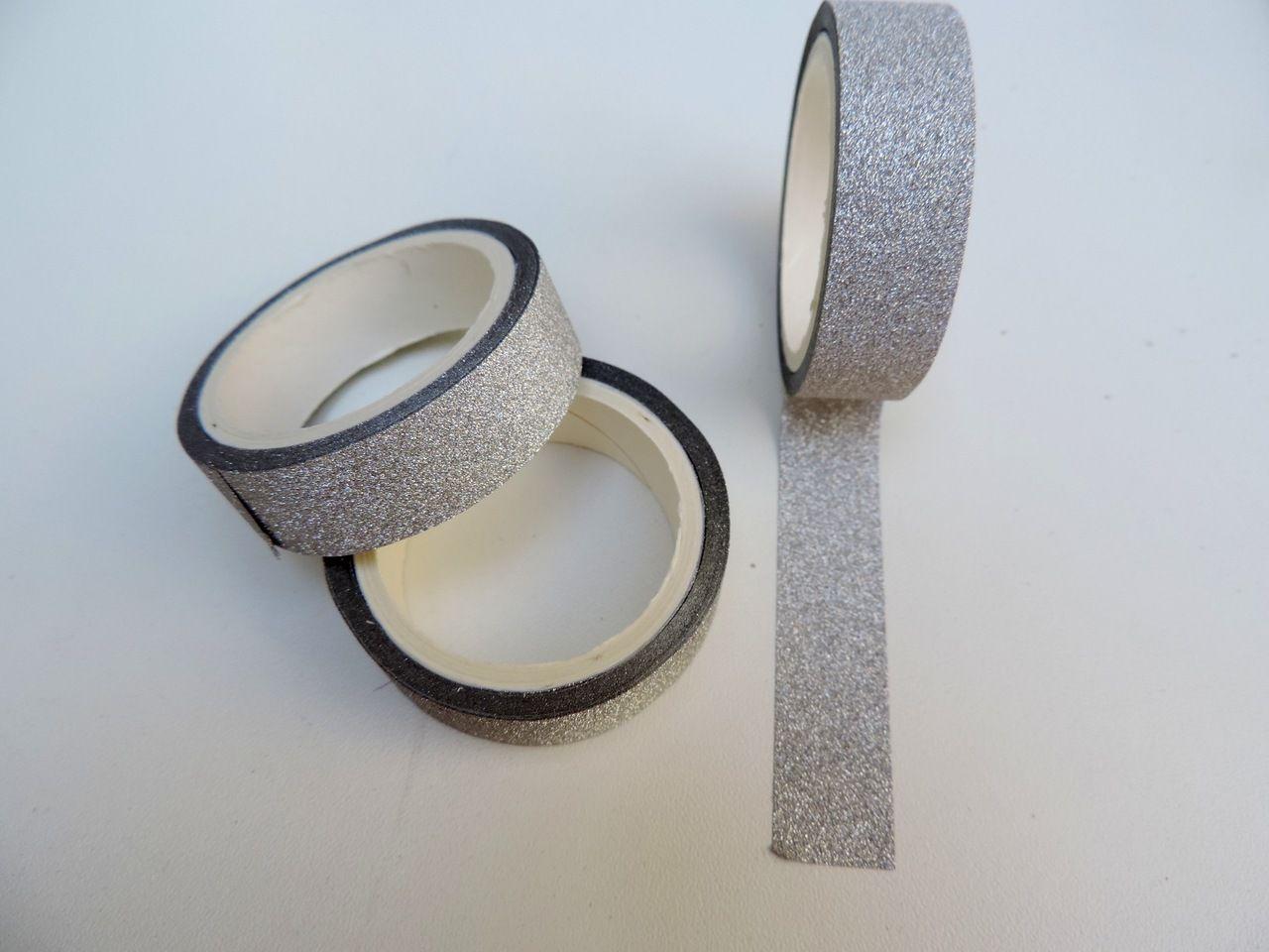 fita adesivo glitter para decoração unidade