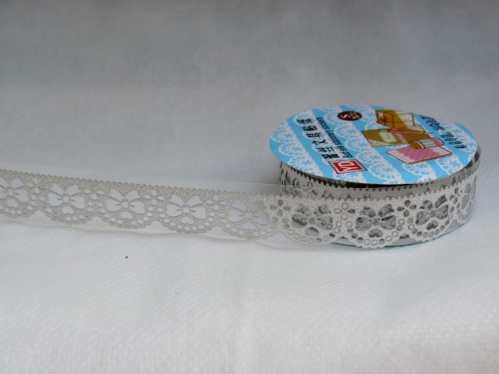 fita de adesivo renda prata rolo 1,8cm x 1mt