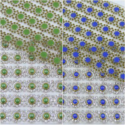 manta termocolante flor strass cristal 6,7x39cm