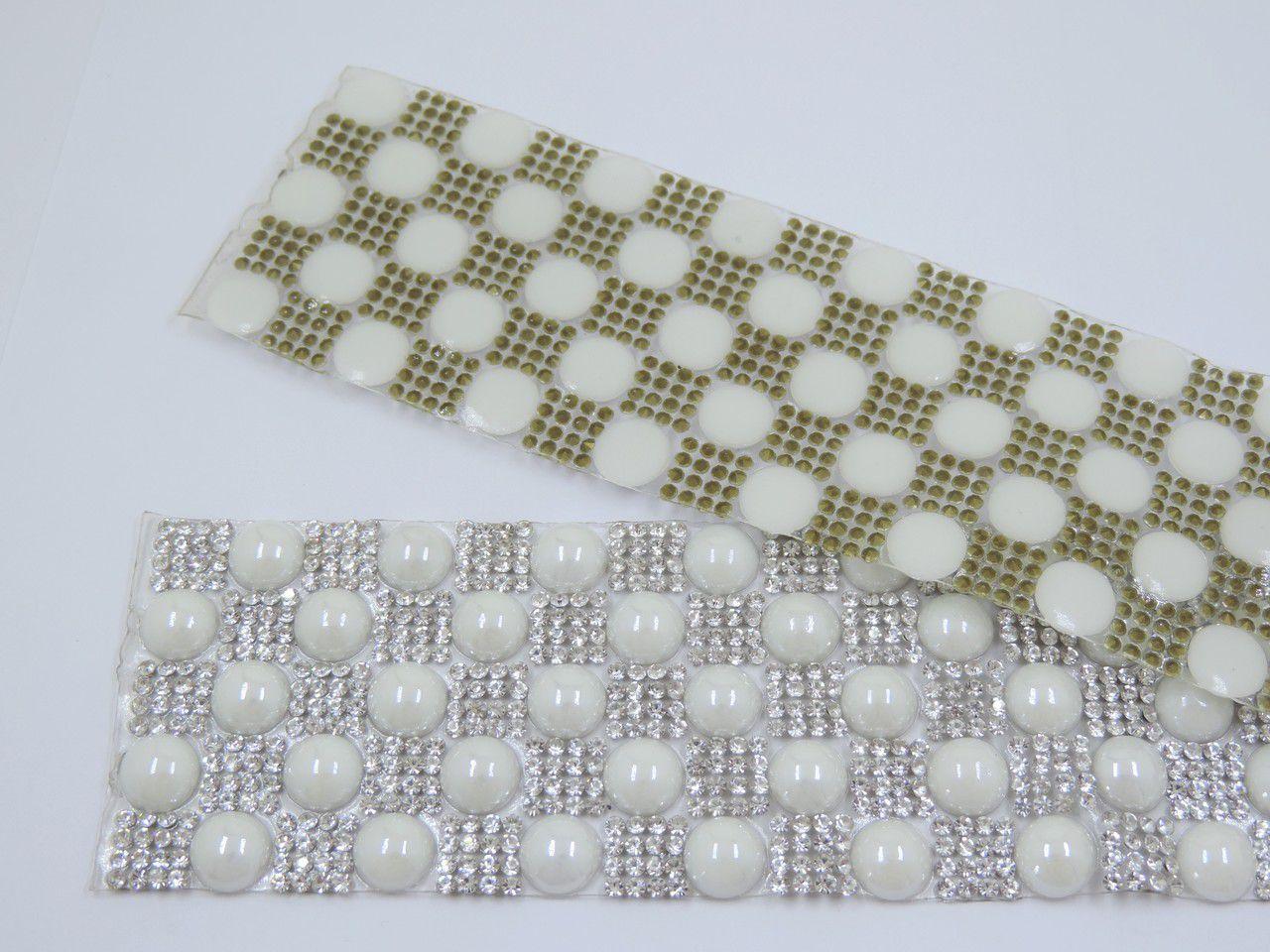 manta termocolante meia pérola 10mm strass 4x39cm