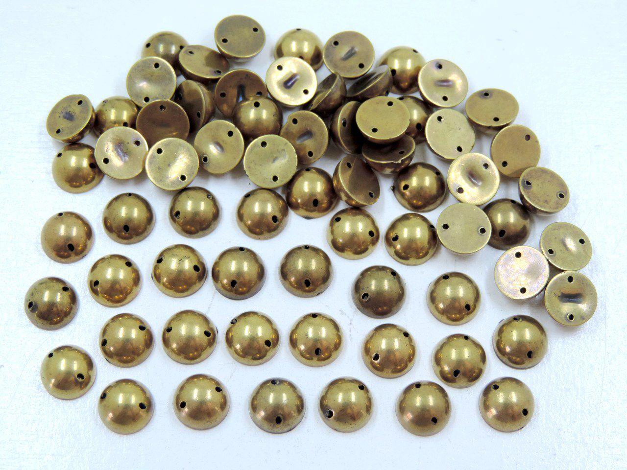 meia bola com furo 10mm para costura 200 unidades