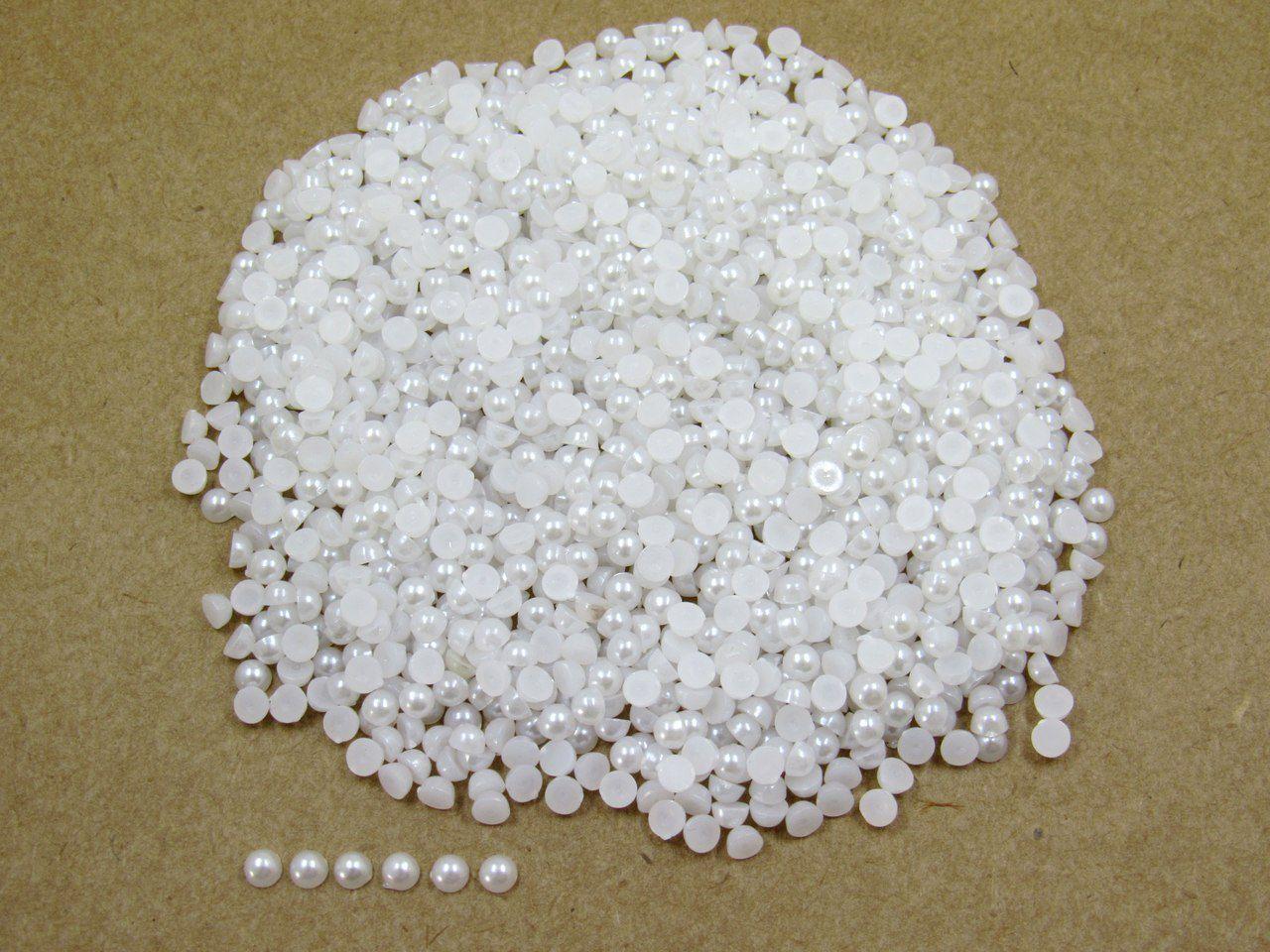 meia pérola branco 4mm para colagem 1200 unidades