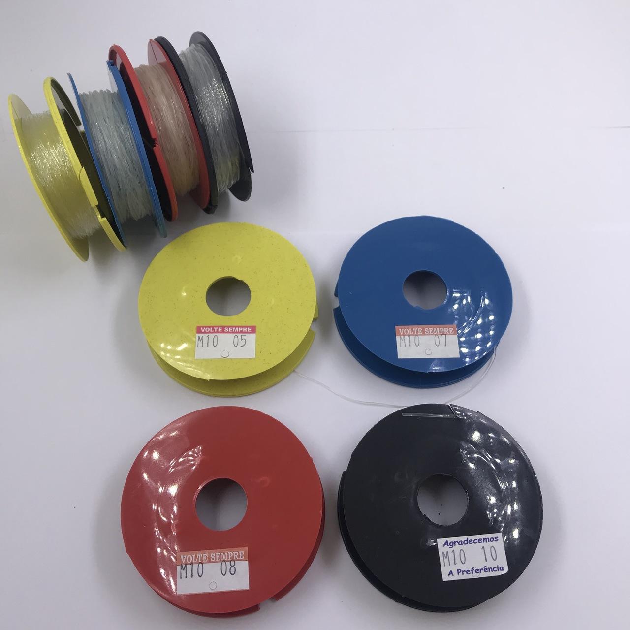 rolo de fio de silicone 4 tamanhos 10mt unitário