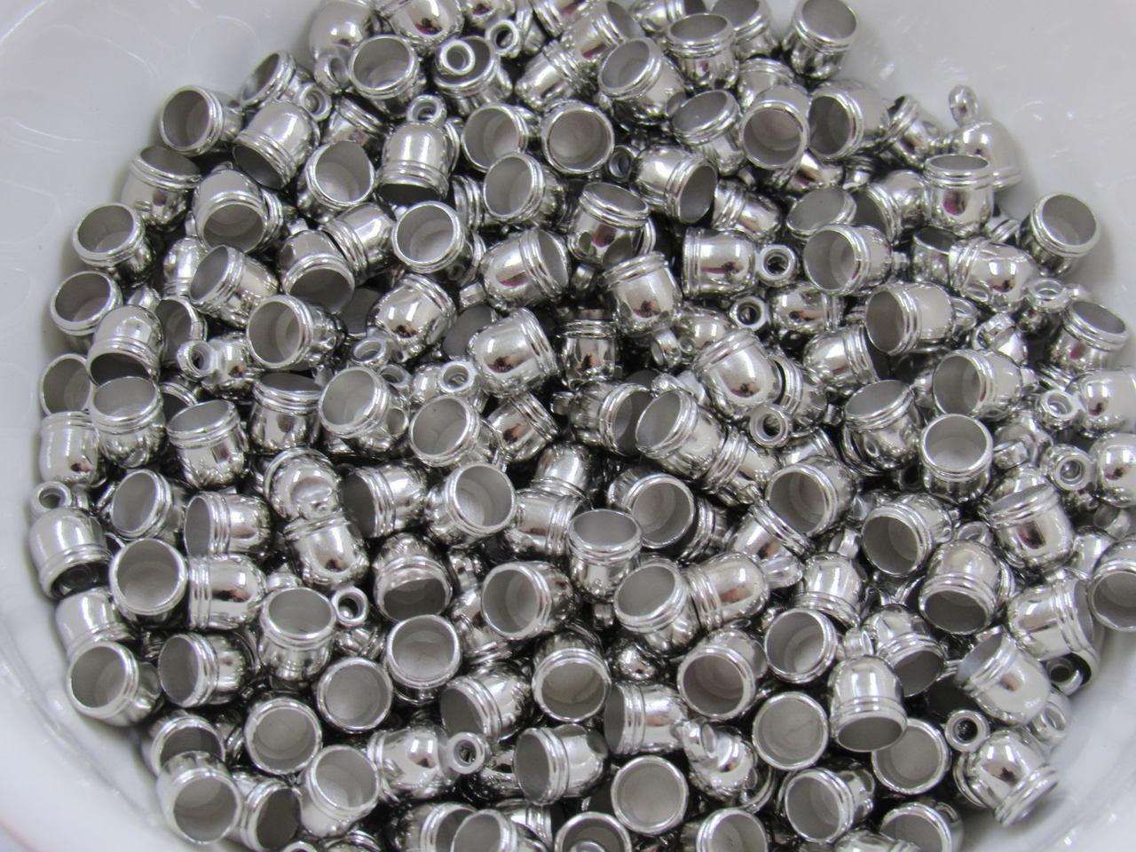 terminal pingente sino prata 10x6mm 50 unidades
