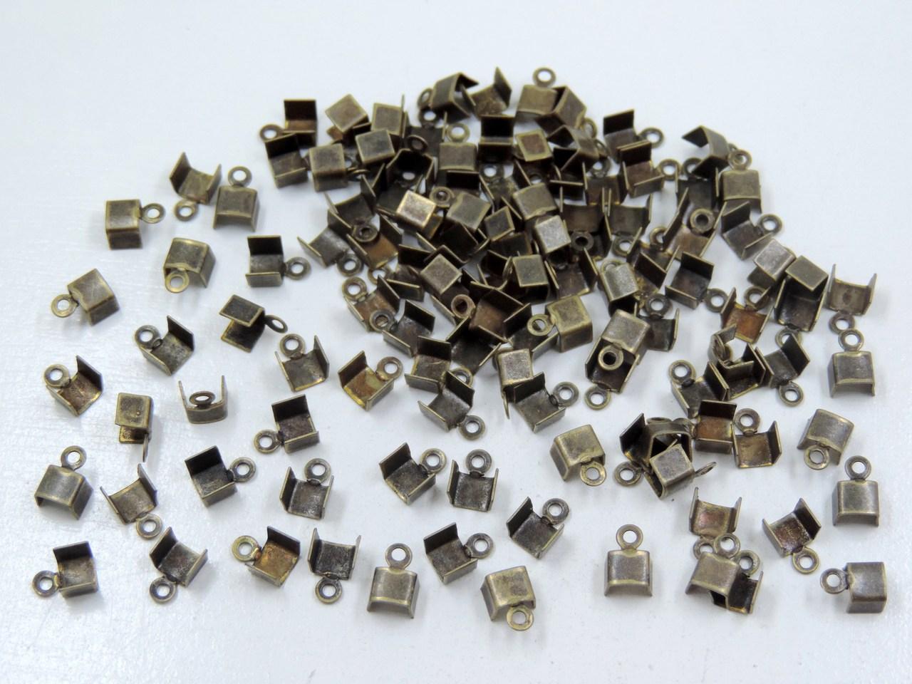 terminal quadrado 4mm ouro velho 100 unidades