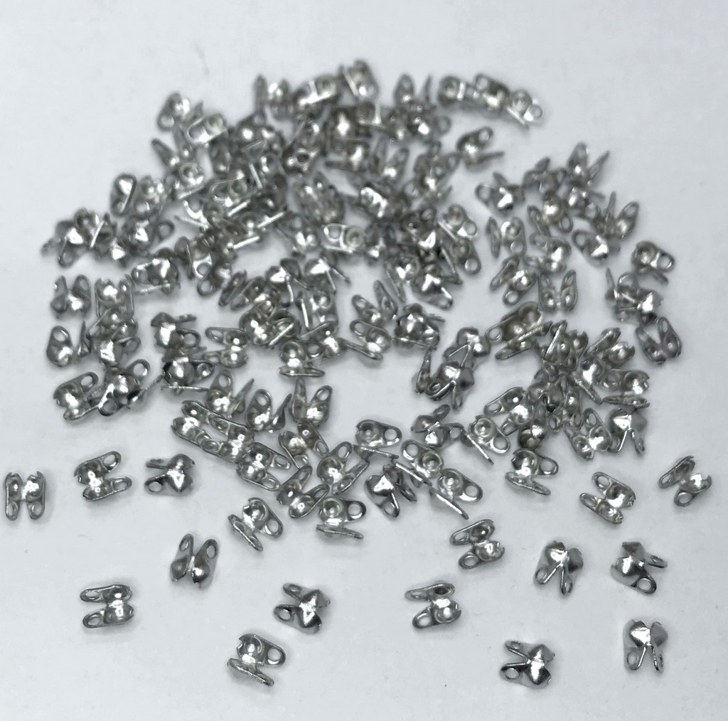 terminal tips sem hastes dourado ou prata 3mm furo 1mm 50 unidades