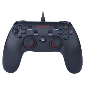 Controle Redragon Saturn PC/PS3 Preto Fosco/Vermelho