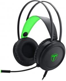 Headset Gamer T-Dagger Ural - Preto e Verde - T-RGH202