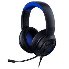 Headset Gamer Razer Kraken X PS4/Xbox One/Switch/PC - Preto/Azul