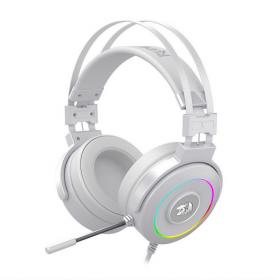 Headset Redragon Lamia 2 - Lunar White RGB USB H320W