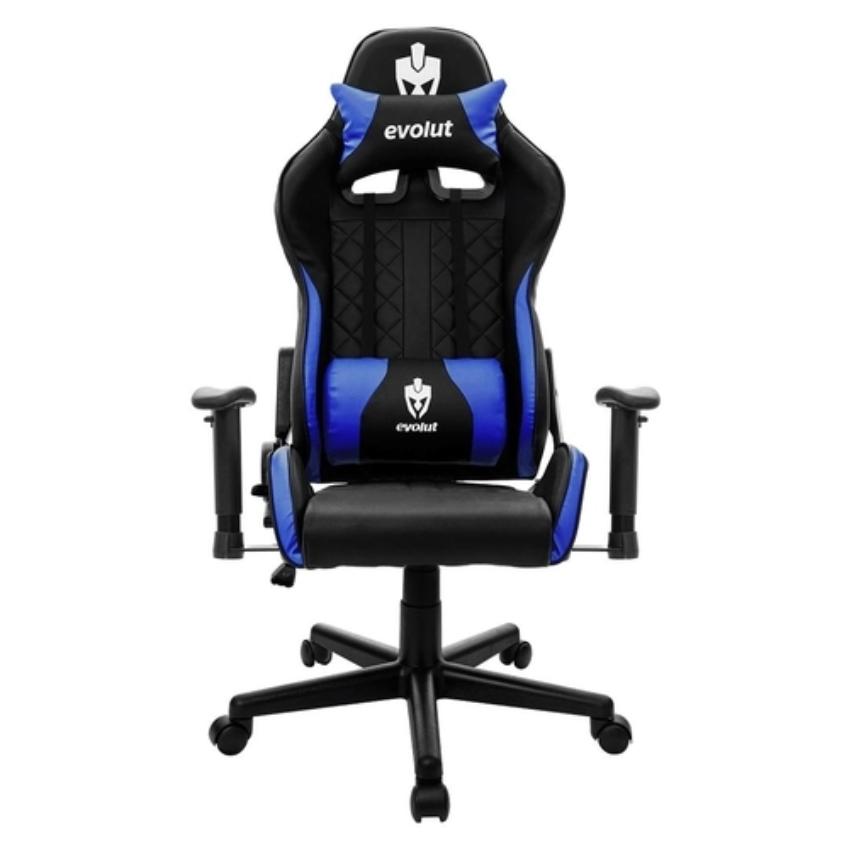 Cadeira Gamer Evolut EG 905 Tanker V2 - Preta/Azul