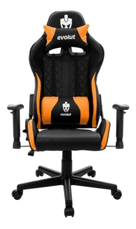 Cadeira Gamer Evolut EG 905 Tanker V2 - Preta/Laranja