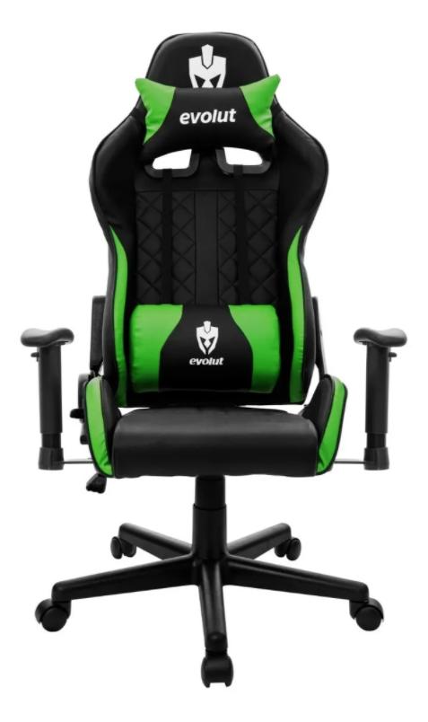 Cadeira Gamer Evolut EG 905 Tanker V2 - Preta/Verde