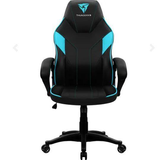 Cadeira Gamer THUNDERX3 EC1 - Preta/Ciano