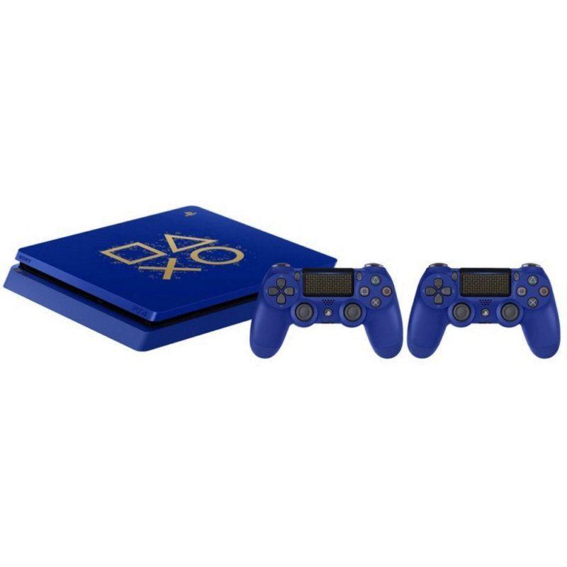 Console Playstation 4 Slim 500GB Edição Limitada Days of Play 2 Controles - Azul