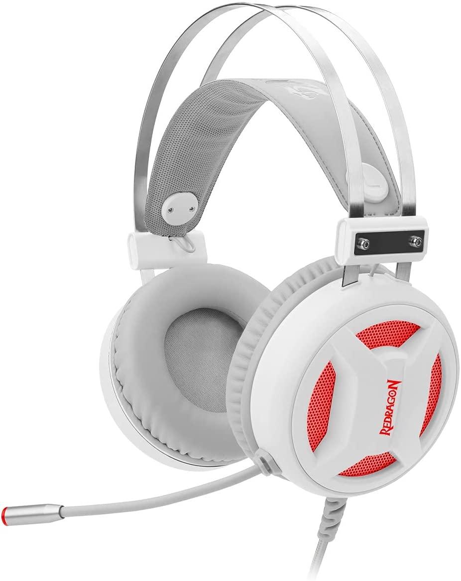 Headset Gamer Redragon Minos Lunar White - H210W