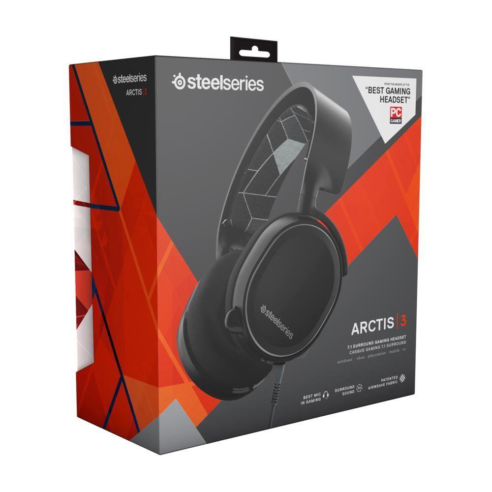 Headset Steelseries Arctis 3 Black 7.1
