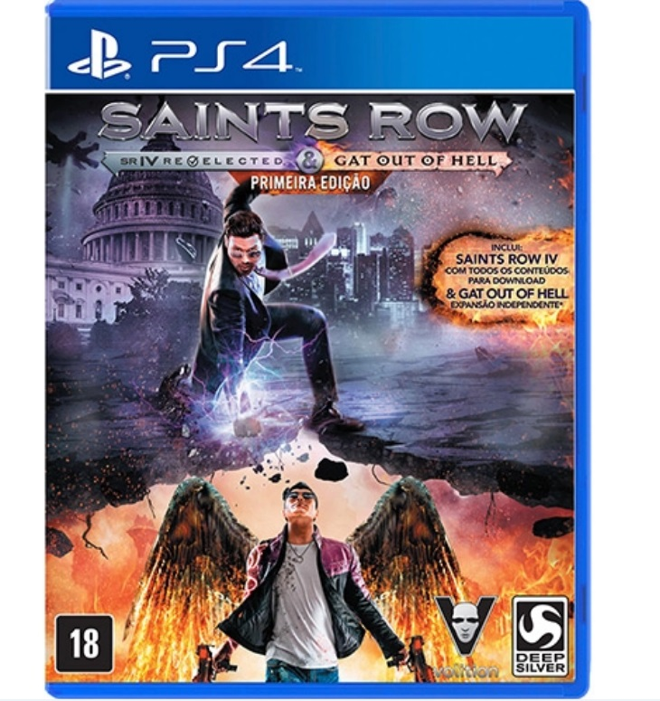 Jogo Saints Row IV: Re-Elected + Gat Out Of Hell - PS4 - Semi Novo