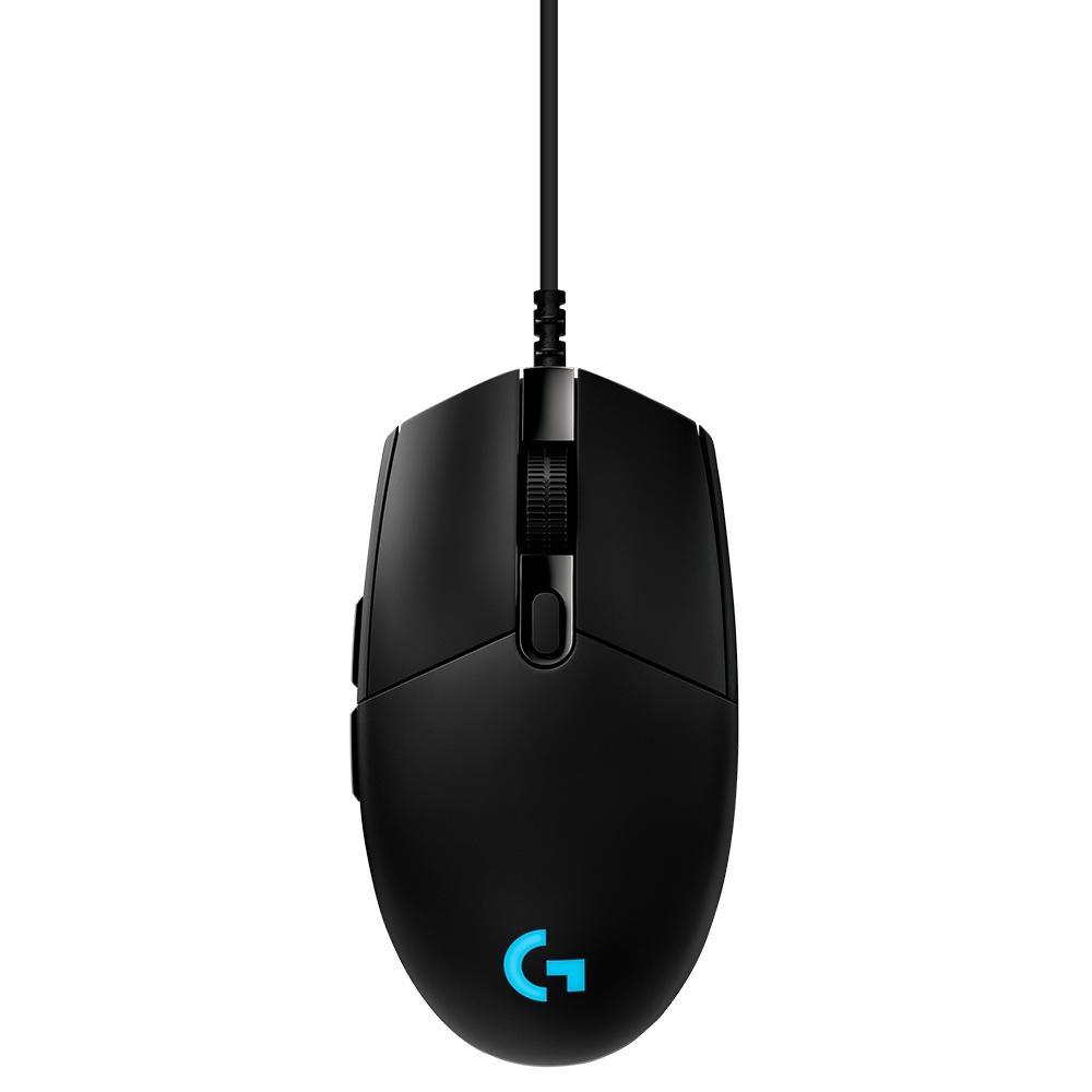 Mouse Gamer Logitech G PRO Hero 16K RGB Lightsync - 6 Botões - 16000 DPI