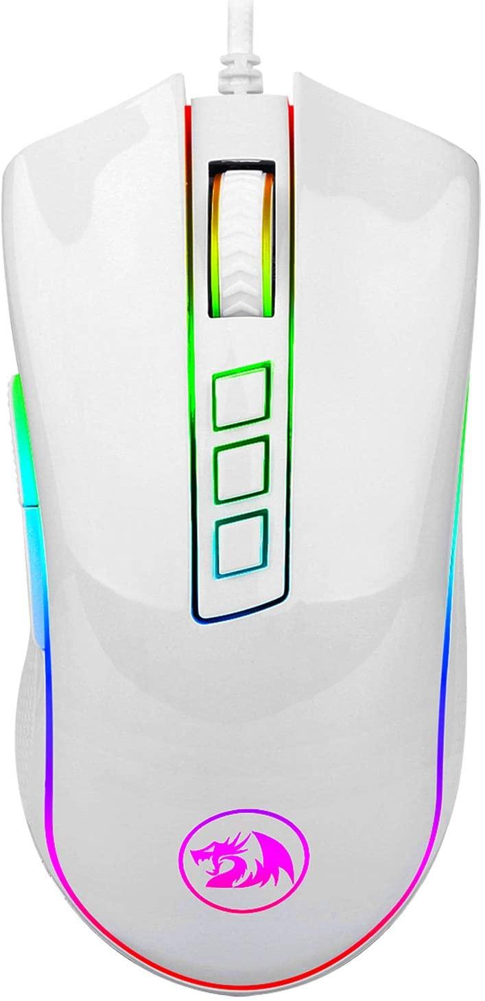 Mouse Gamer Redragon Cobra 10000DPI Chroma - Branco