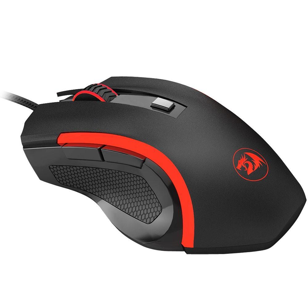Mouse Gamer Redragon Nothosaur 3200DPI - Preto